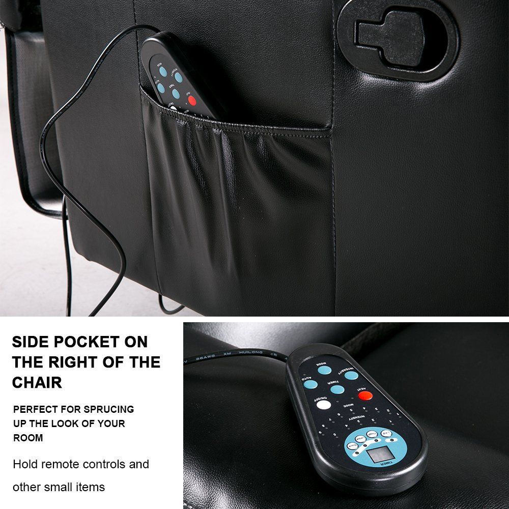 Merax massage recliner chair living room sofa pu leather