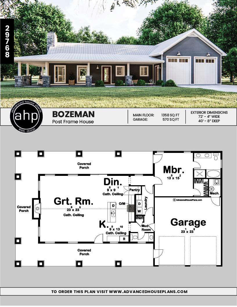 1 Bedroom Barndominium With Open Floorplan In 2020 Barn House Plans Pole Barn House Plans Barn Style House