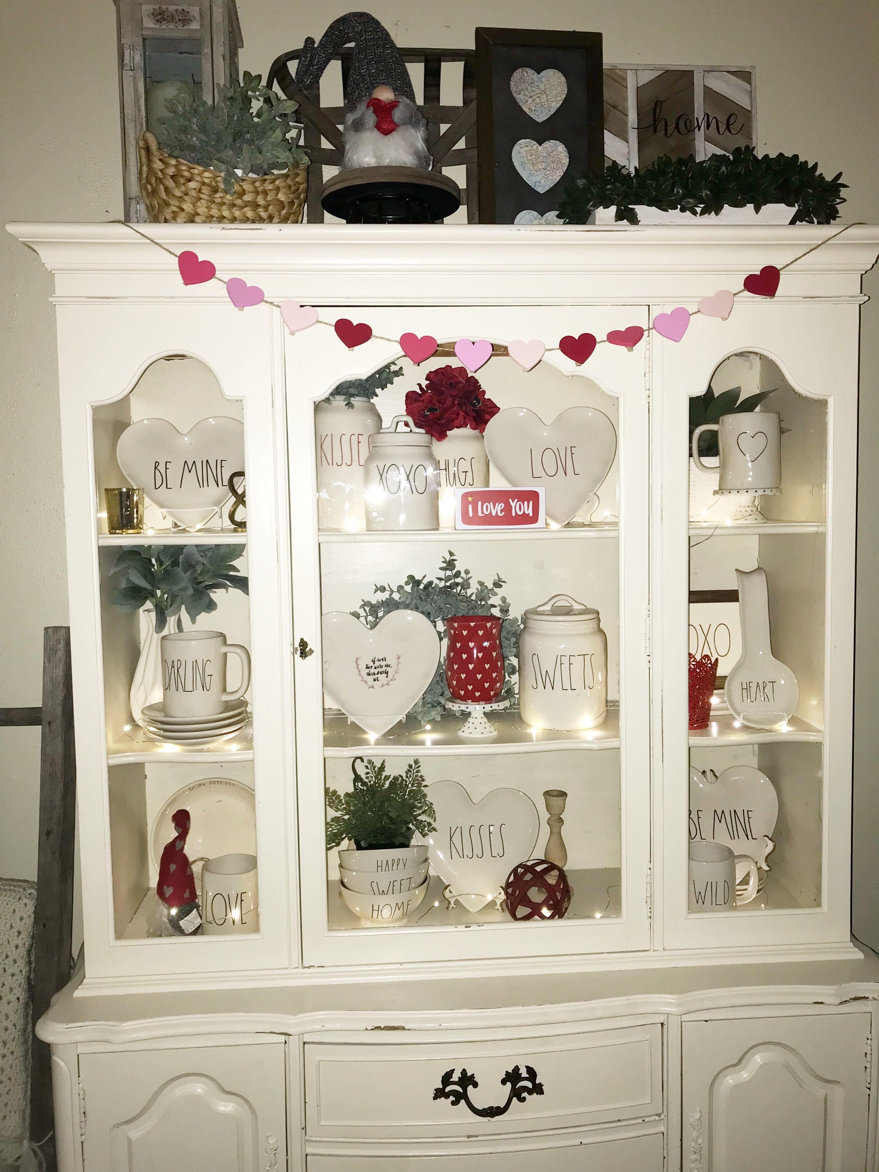Rae Dunn Display Valentines Day | Valentines decor | Pinterest ...