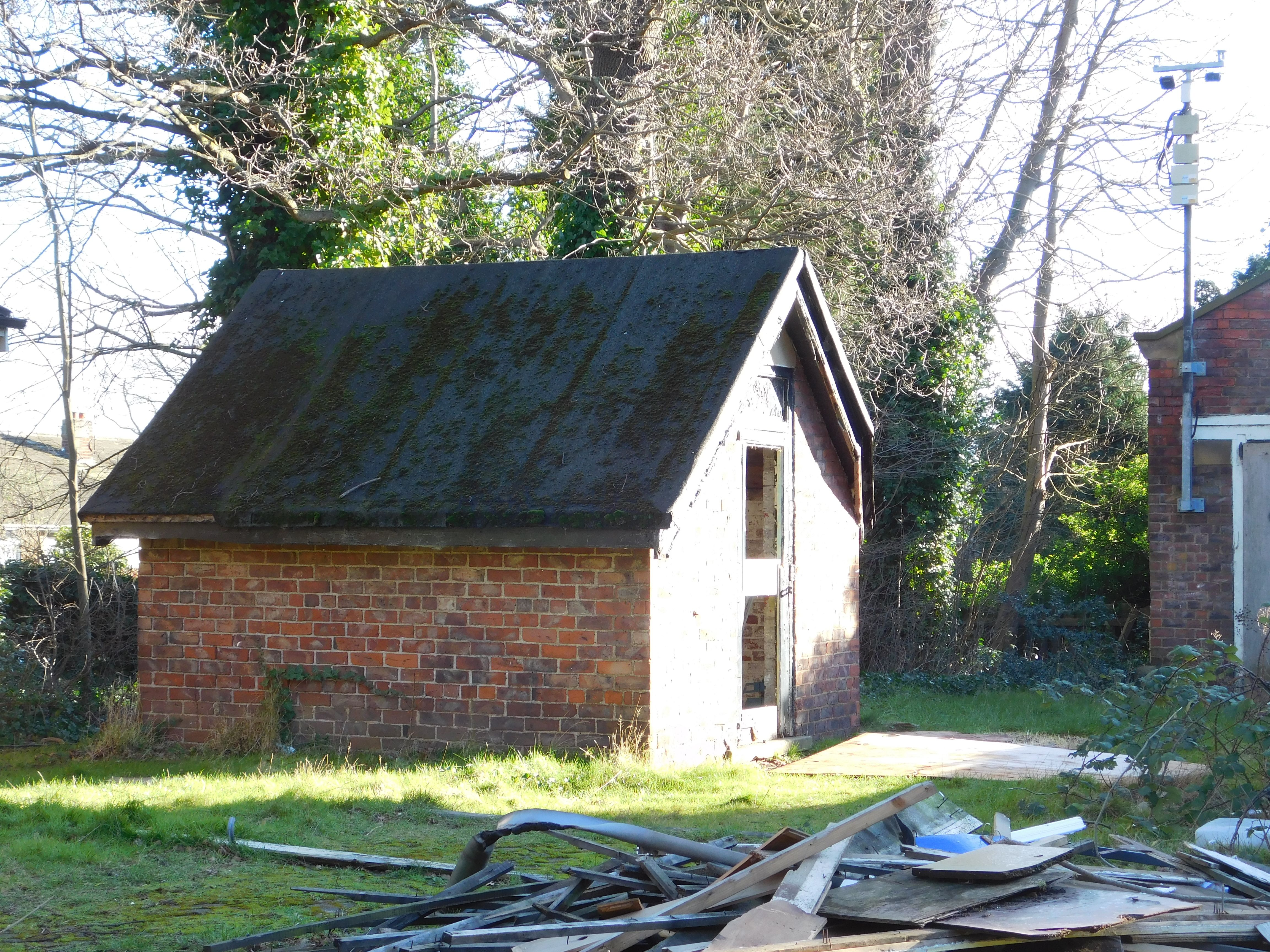 outer shed of the abandoned building