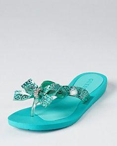 0577ed79b7c89 Guess - Blue flip flops