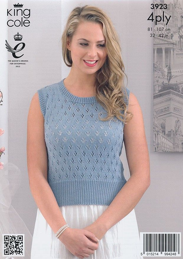 Tops Knitted in King Cole Bamboo 4Ply (3923)   Knit patterns ...