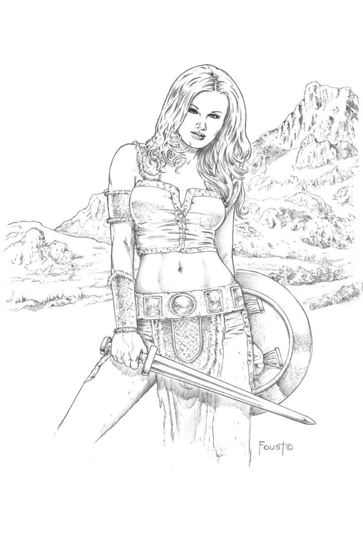 rovena mitch foust coloring pages pinterest valkyrie tattoo