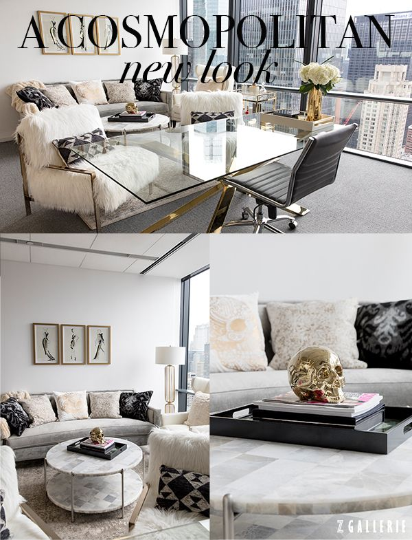 A Glam Contemporary Zgallerie Nyc Office Makeover With