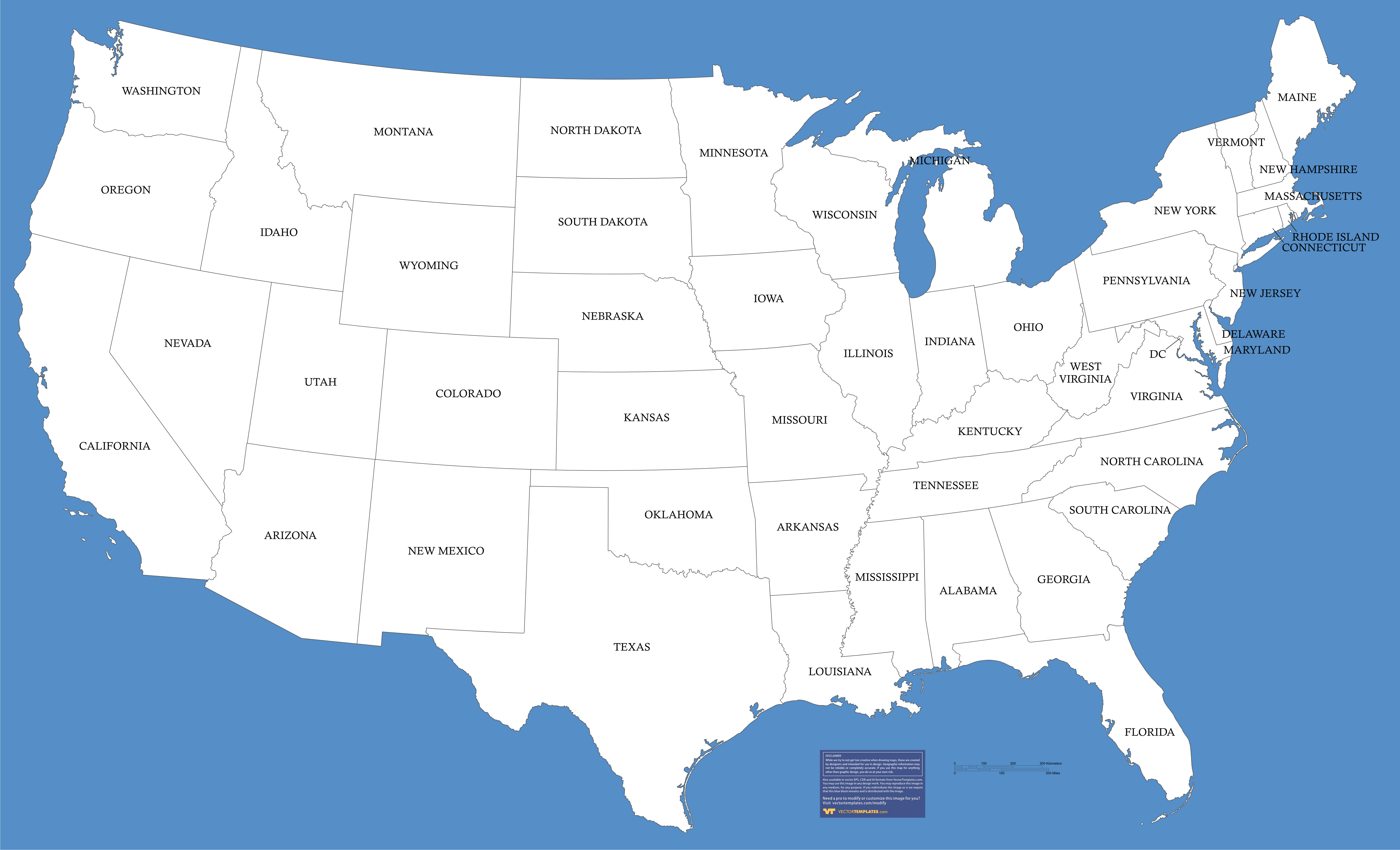 Select From A Variety Of USA State Maps Including USA Outline Maps - Free editable us map for powerpoint