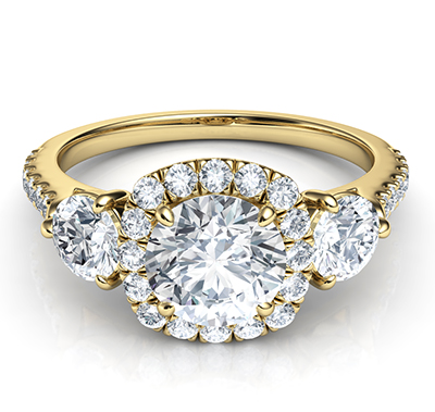 Rich Engagement Ring Price Includes Two 0 50 Side Diamonds View 1 Engagement Ring Prices Round Diamond Engagement Rings Halo Round Engagement Ring