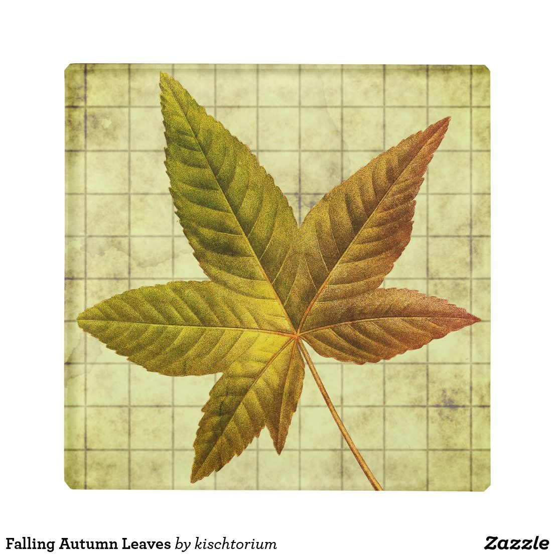 Falling Autumn Leaves Glass Coaster Zazzle Com With Images