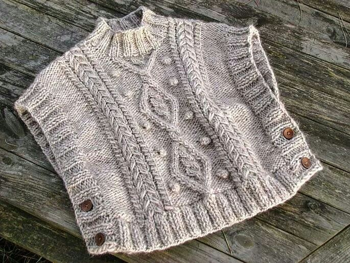 Poncho 2 agujas | Crochet - knitting baby girl | Pinterest