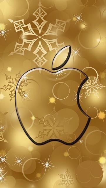On Golden Apple Apple Wallpaper Apple Logo Wallpaper Iphone Apple Ipad Wallpaper