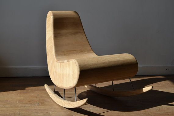 Fauteuil Rockingchair Gorhdini Por ThierryMarcDesign En Etsy - Fauteuil rocking chair design