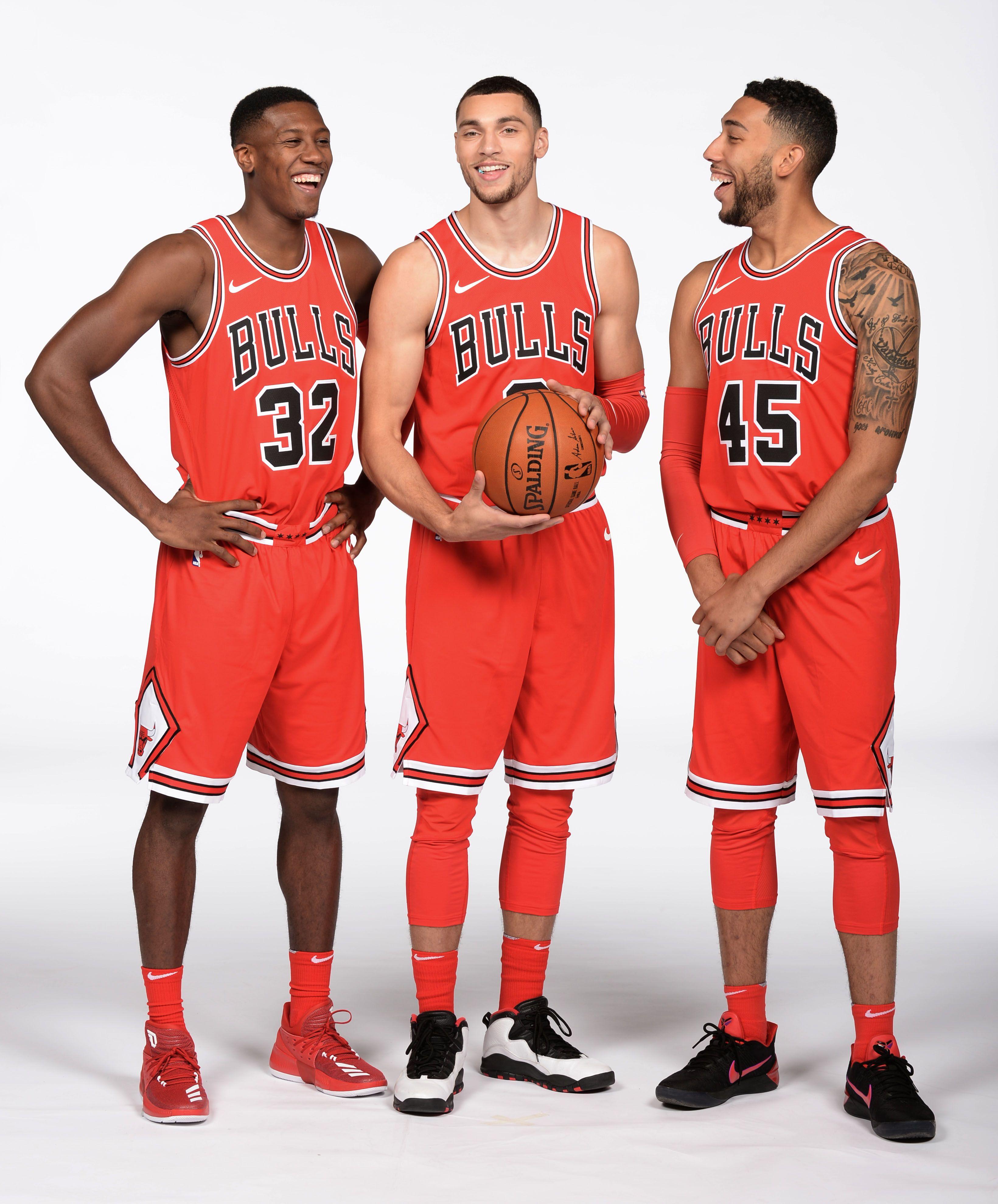 sports shoes c8829 64224 Kris Dunn, Zach Lavine and Denzel Valentine | Chicago Bulls ...