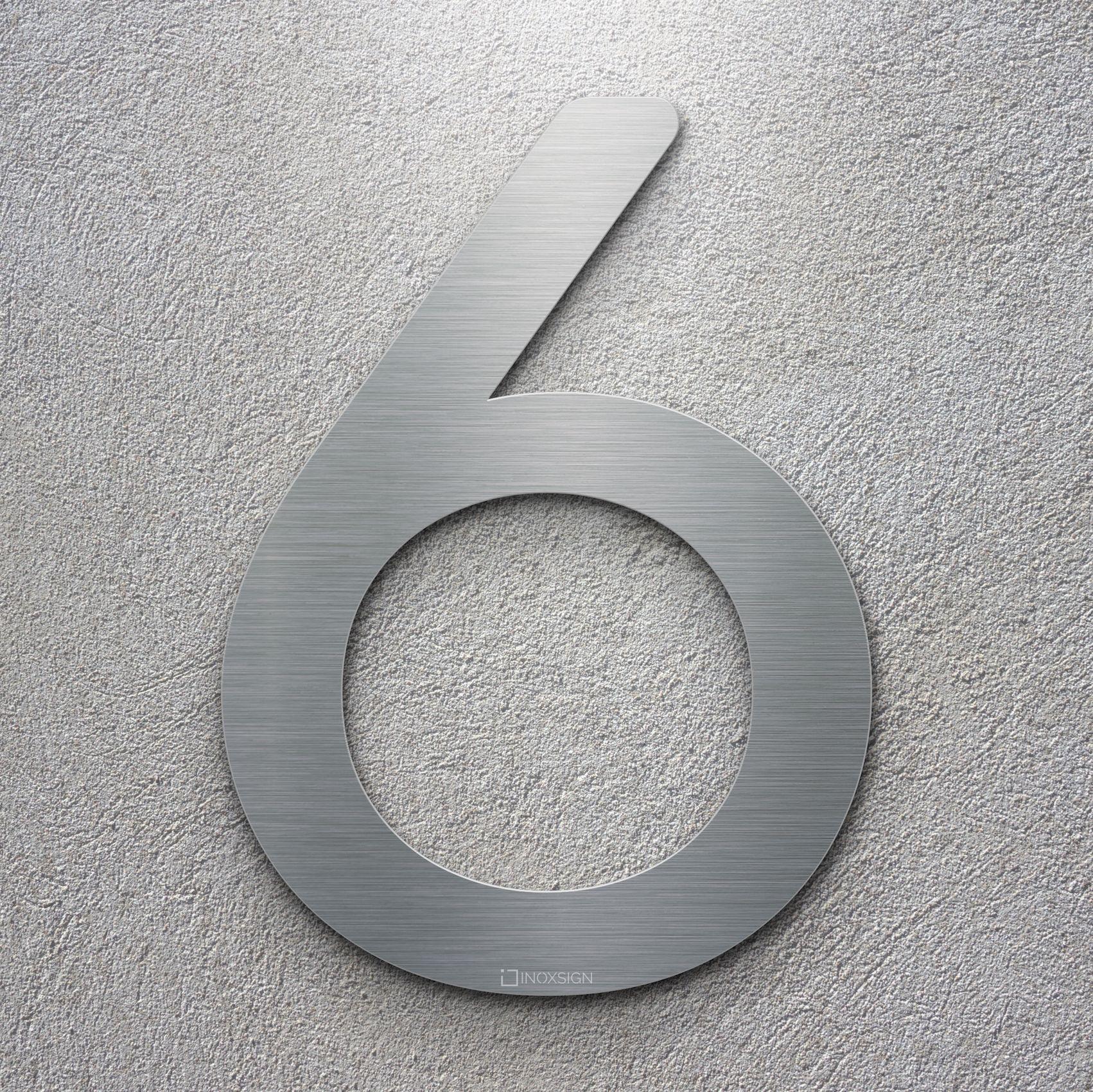 Moderne Hausnummern Edelstahl neu inoxsign edelstahl hausnummer 6 moderne hausnummern aus