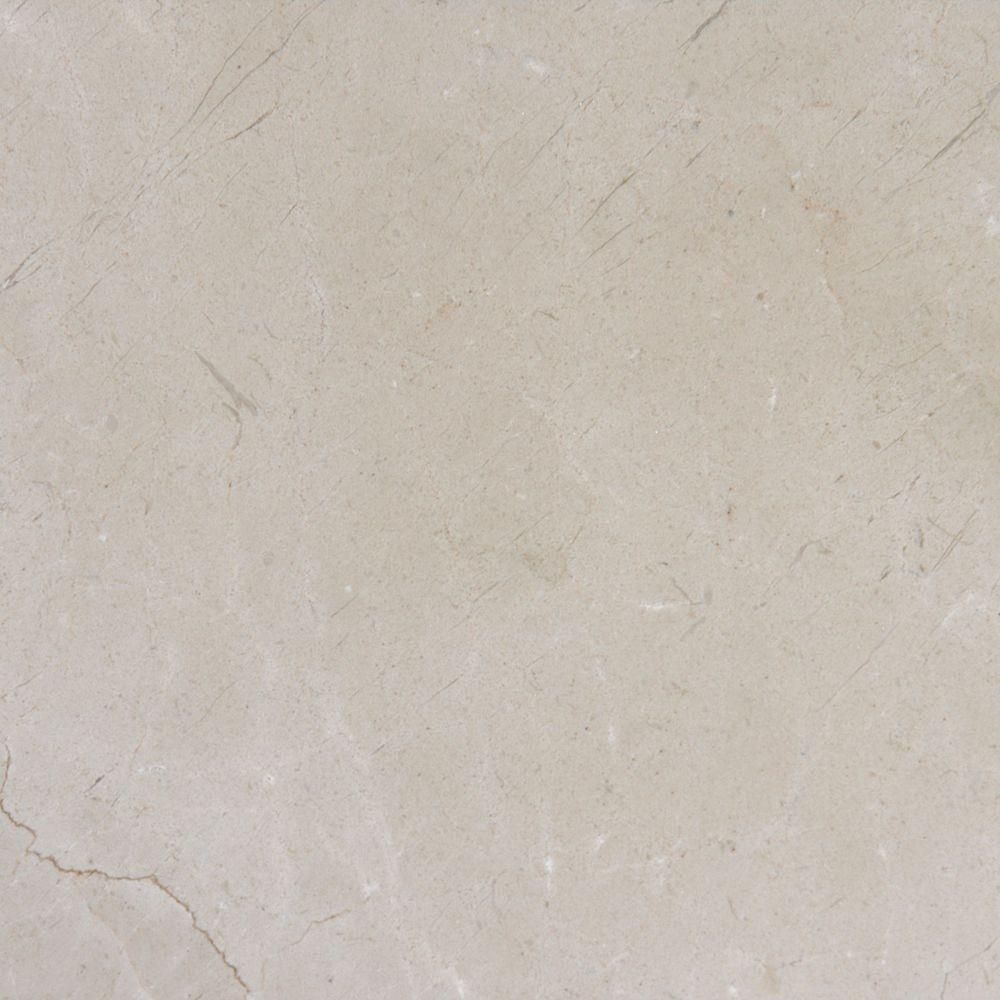 MSI Crema Marfil 12 in. x 12 in. Polished Marble Floor and