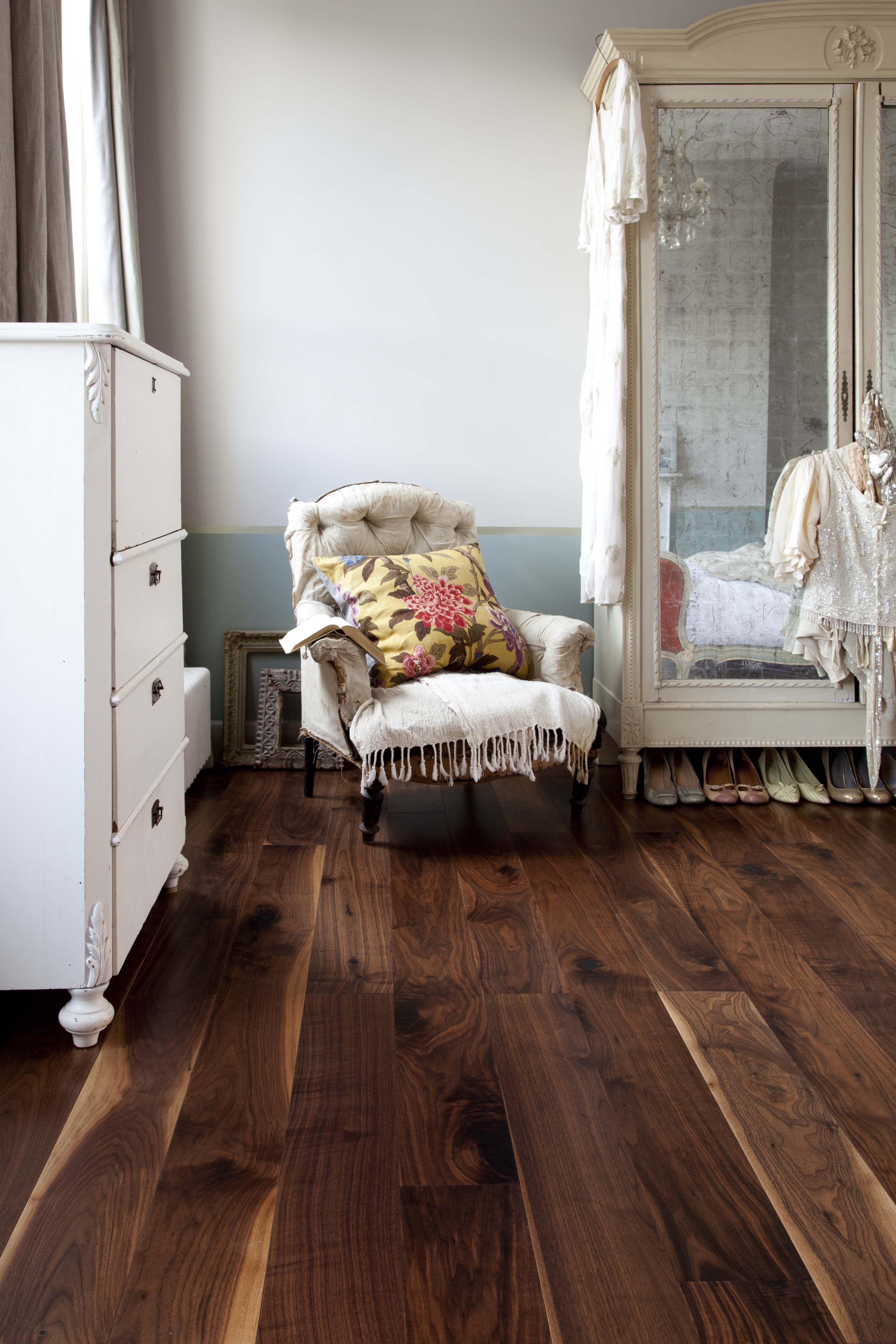 Wide plank walnut floors Galleria Engineered Structural