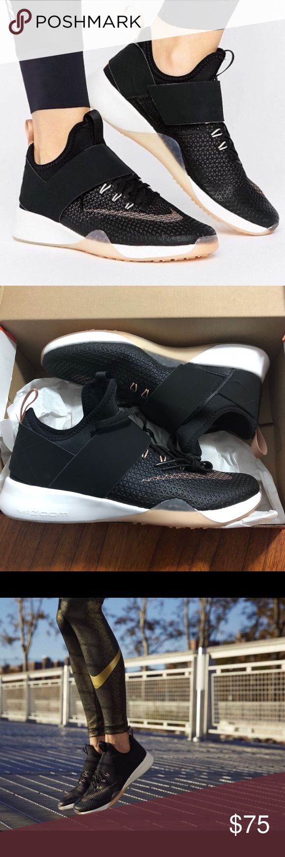 d47a1d5b75189 Nike air zoom strong black rose gold women s 8 NEW womens nike air zoom  strong black   rose gold. New in box Size  8 Bundle fav items for a  personal ...