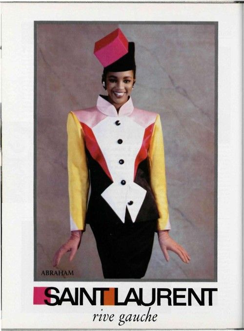 1988 - YSL Rive Gauche adv -  Naomi Campbell