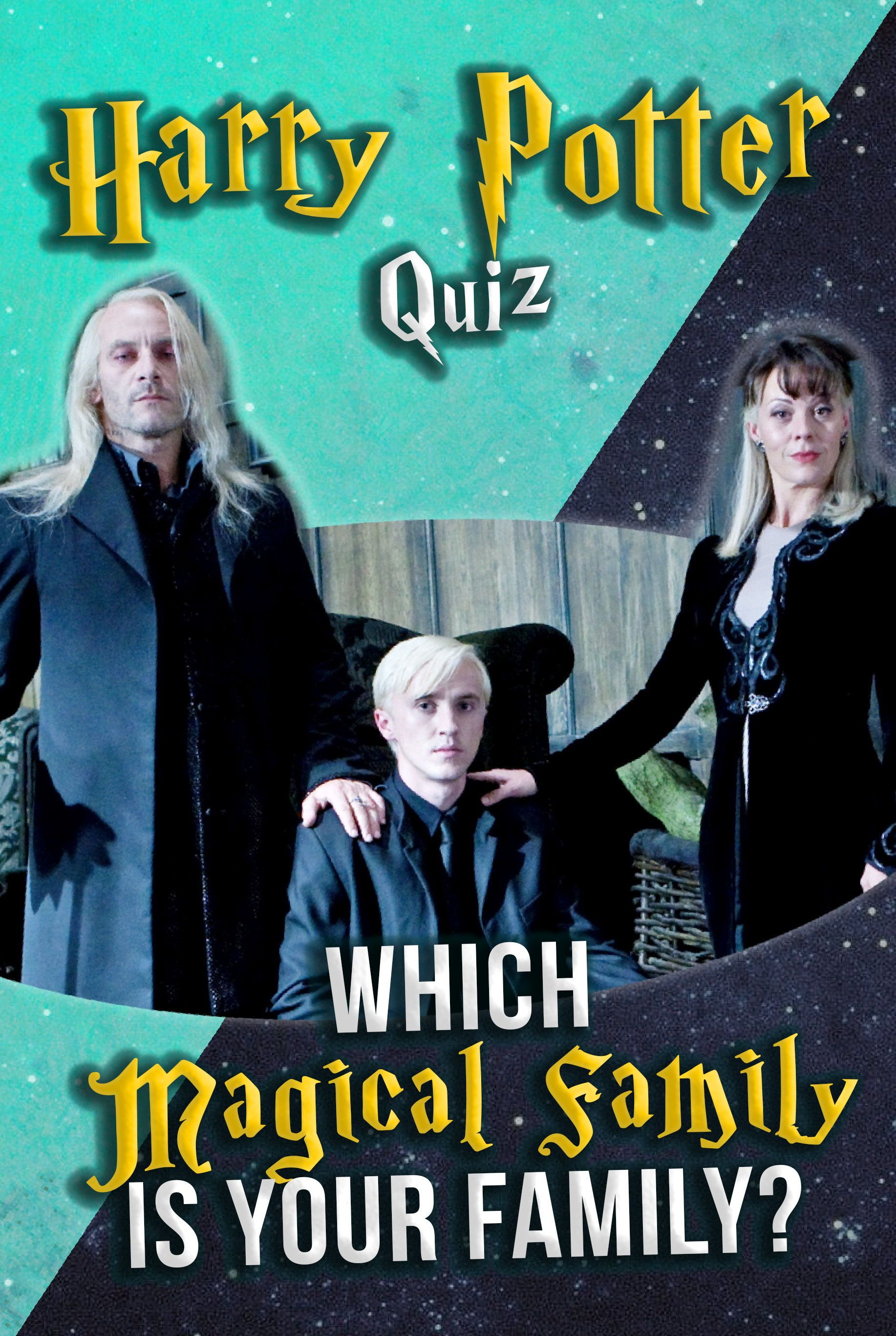 Harry Potter Quiz Which Magical Family Is Your Family In