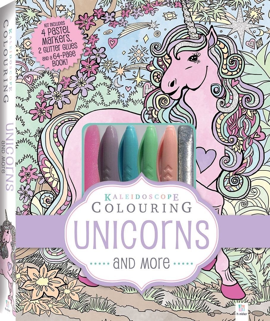 Unicorn Coloring Kit - Coloring pages allow kids to ...