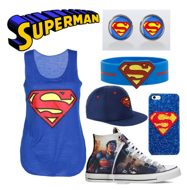 """superman"" by bmarie211 ❤ liked on Polyvore featuring Converse"