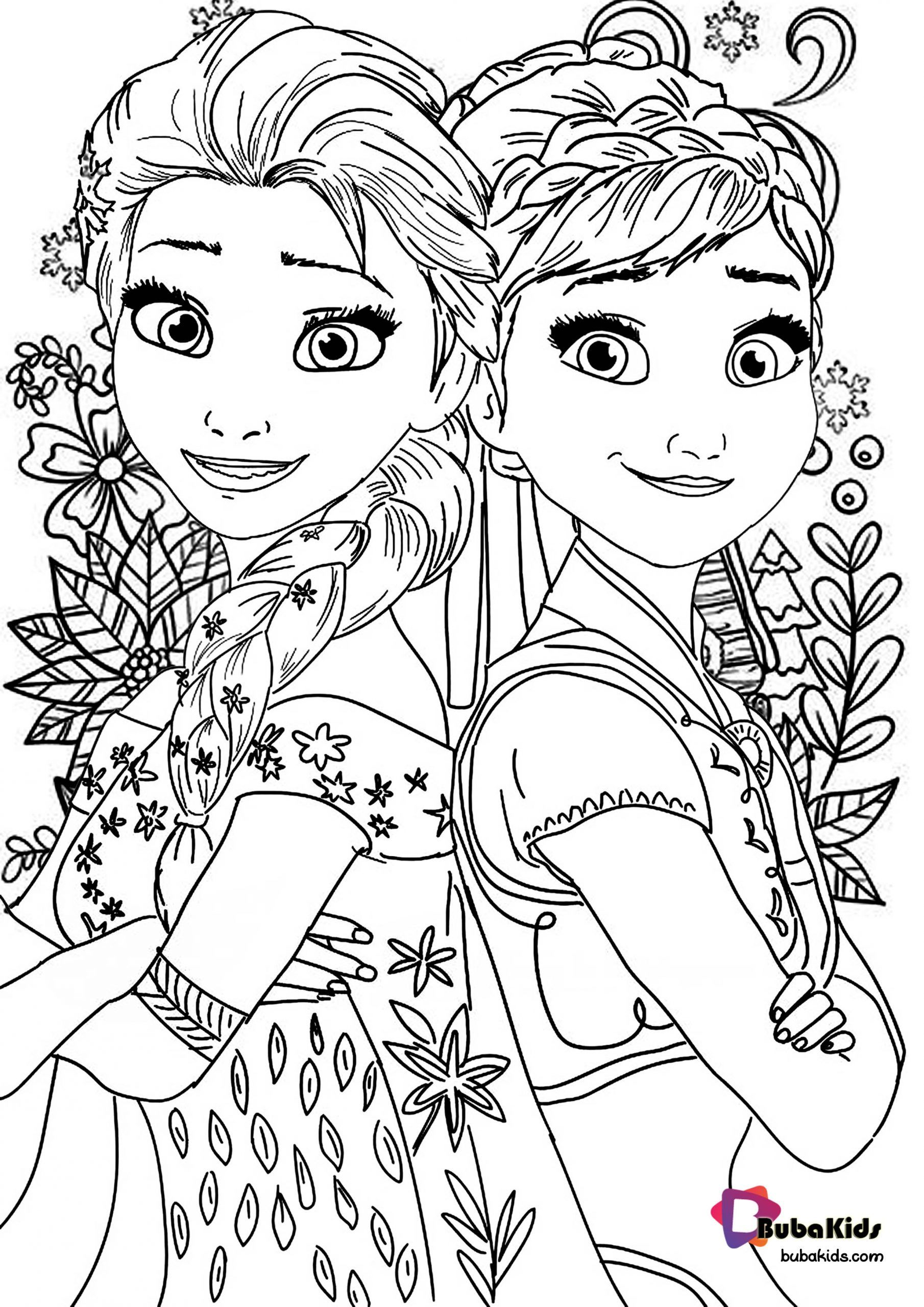 Frozen 2 Coloring Page For Kids Collection Of Cartoon Coloring