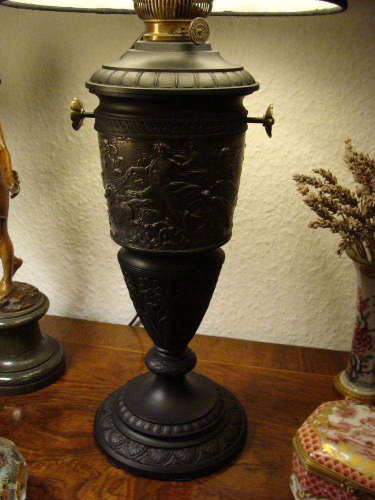 Prunk Lampe Tischlampe Relief Helios Diana Apollon Leda Allegorie Historismus