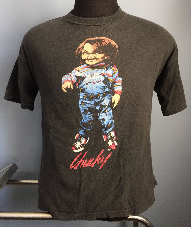 Chucky Wanna Play T-Shirt Child/'s Play Horror Movie Tee Men/'s All Sizes