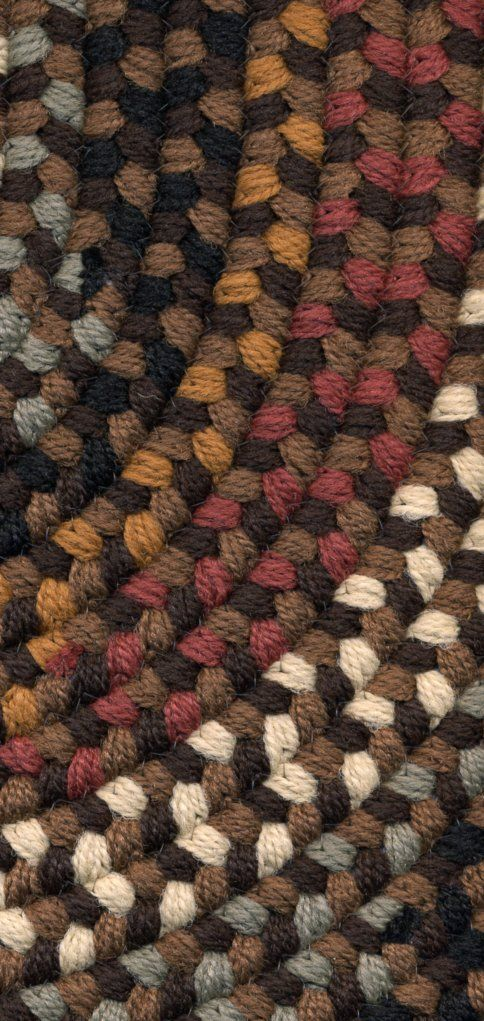 Rhody Pilgrim Braided Rugs - Brown Color Close Up