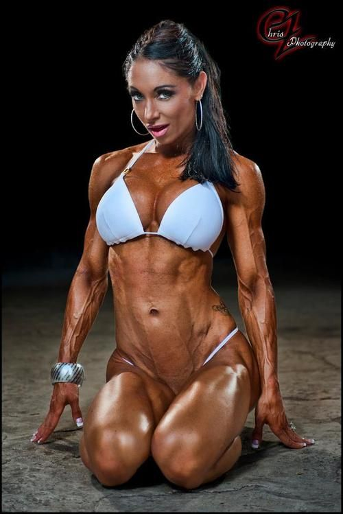 muscular girls in motion