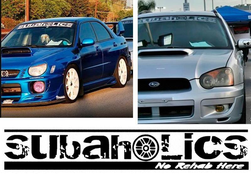 WRX windshield decal subaru banner sticker custom window graphic Impreza visor