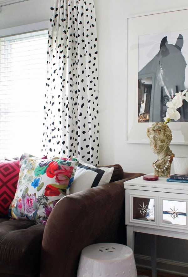 hunted interior: DIY Spotted Drapery