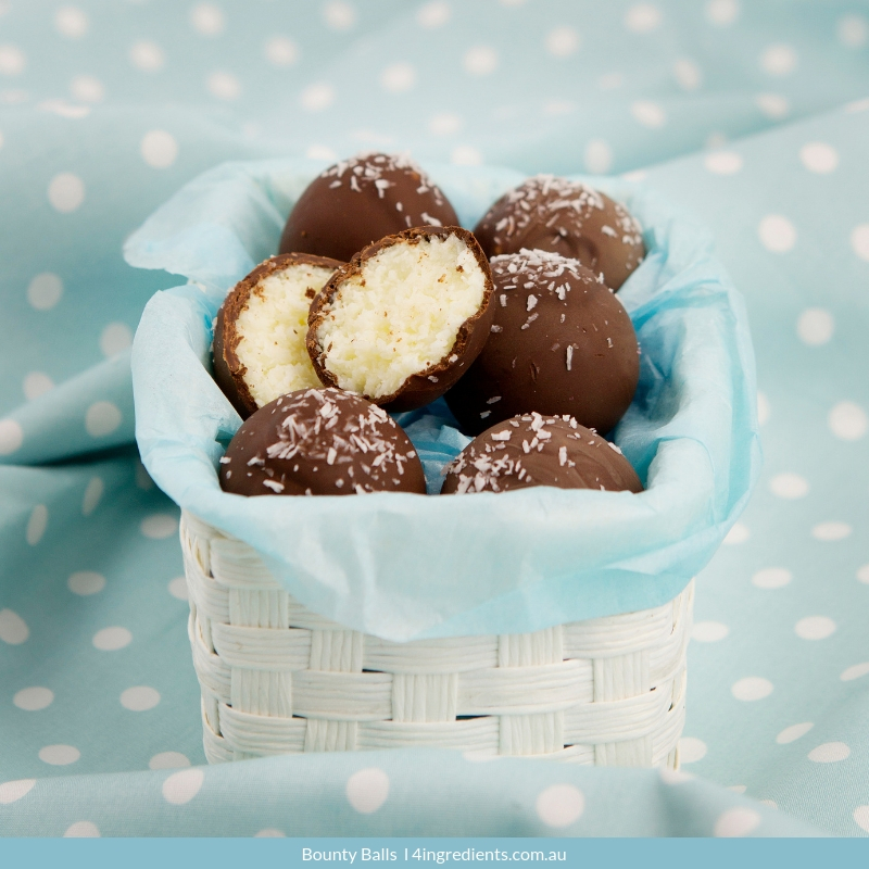 Bounty Balls 4 Ingredients Recipe 4 Ingredients Tray Bakes Edible Gifts