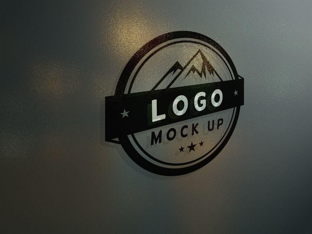 Gumroad Frosted Glass Logo Mock Up Logo Mocking Folder Organization