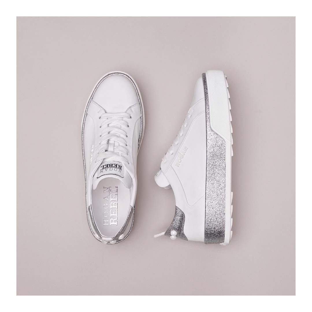 The #HOGAN #H320 #sneakers in fresh tones of white and silver Join ...