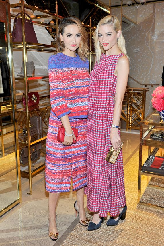 ce3d5a7f70e Camilla Belle and Jaime King at Tory Burch s launch party and dinner at her Rodeo  Drive boutique
