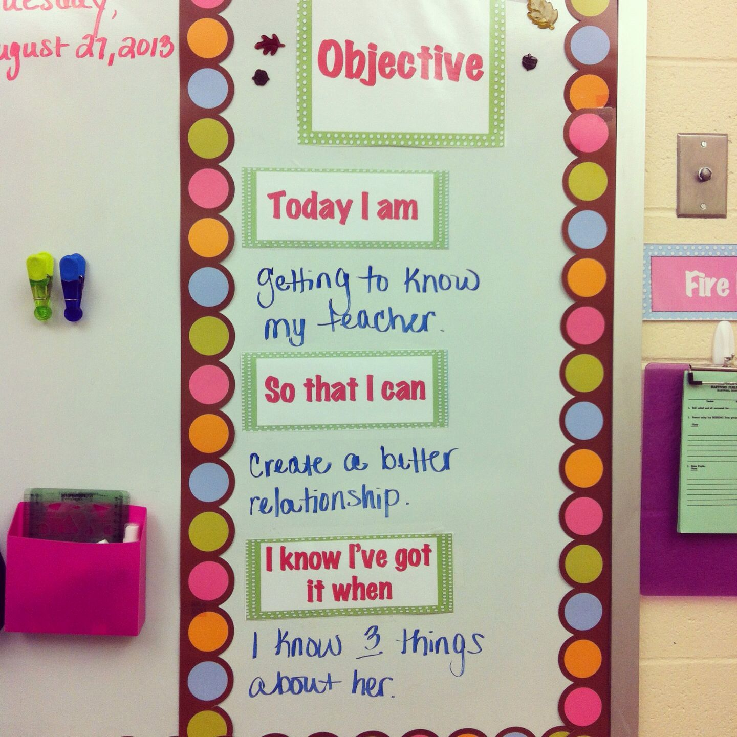 Classroom Objectives So Students Know What They Will Be Learning