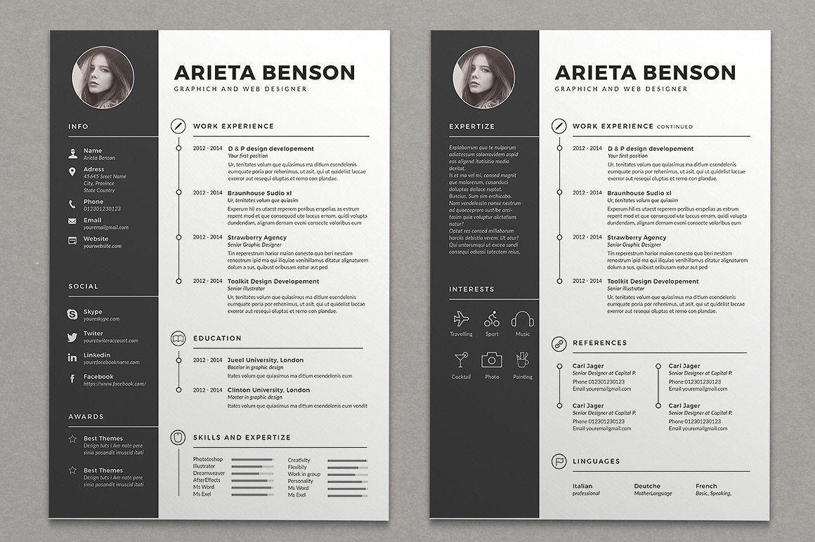 15+ Visual CV & Resume Templates (Download for Free) in