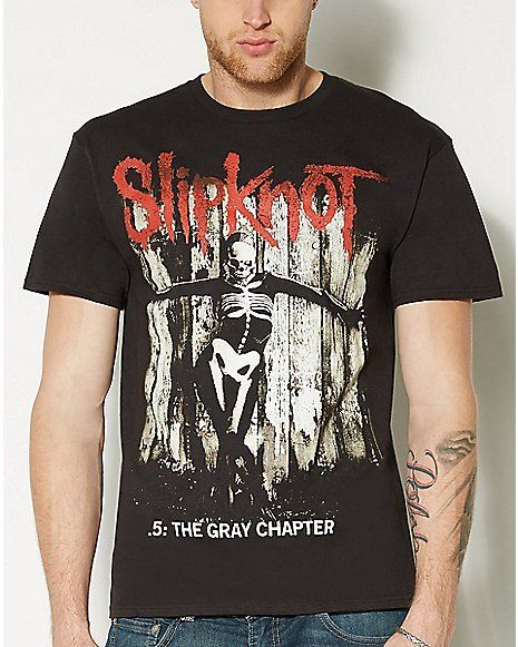 3818ac11 Gray Chapter Slipknot T shirt - Spencer's | Clothes in 2019 ...