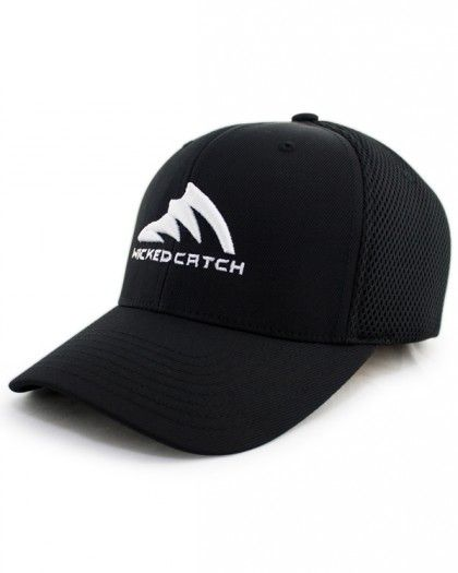 Men's Iconic Black Ultrafibre Fishing Hat - Wicked Catch #fishing #wickedcatch