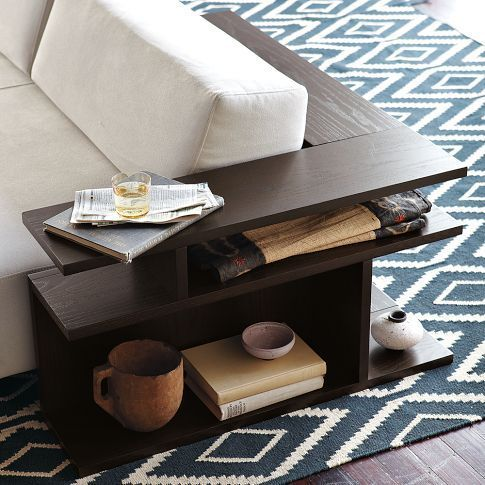 wrap around bookshelves | Wrap-around sofa table | Ideas