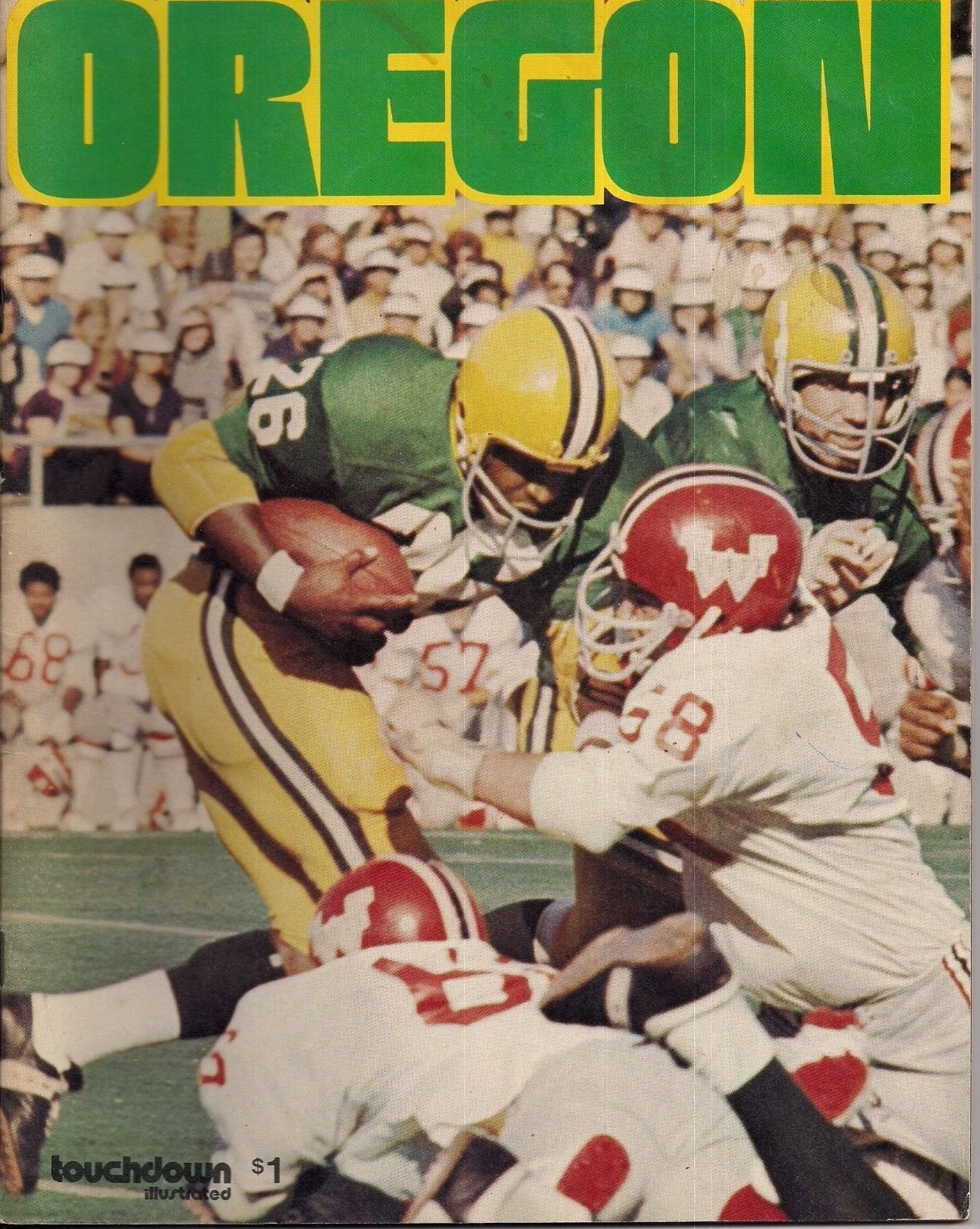Oregon University 1973 Touchdown Illustrated Magazine