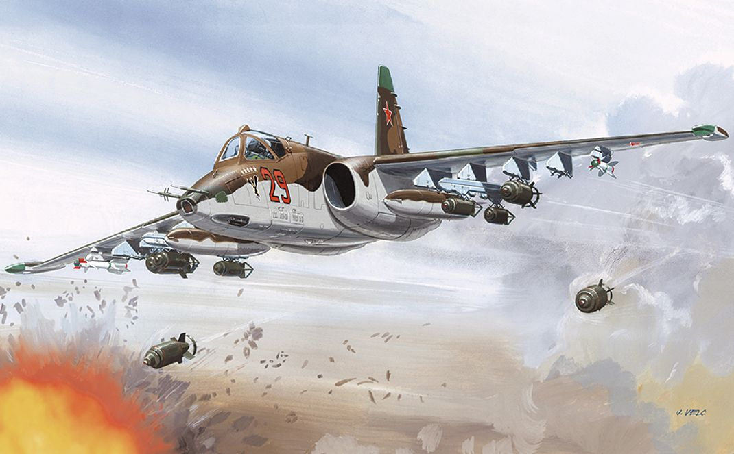 Su 25 Aviation Art Aircraft Art Combat Art