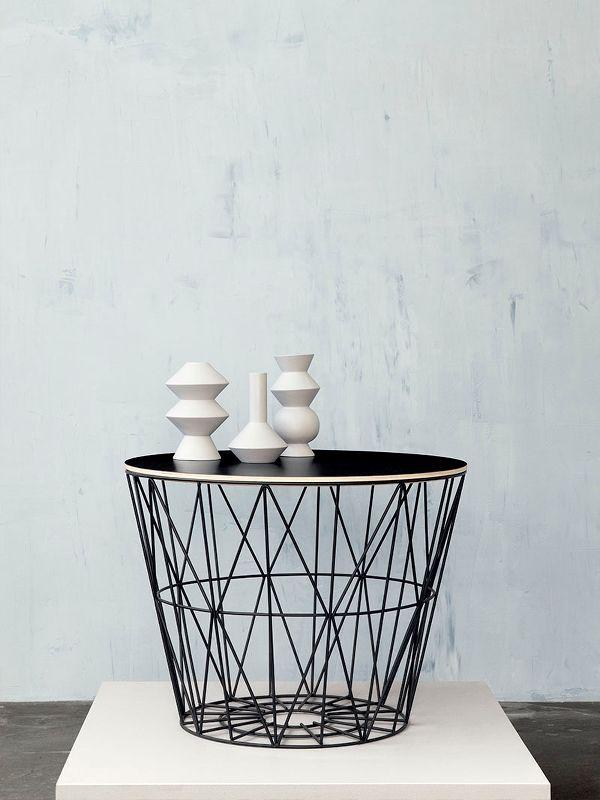 Ferm Living Wire Basket Side Table Black Large