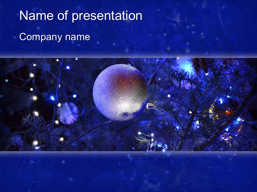 Blue Christmas Powerpoint Template And Theme This Beautiful And