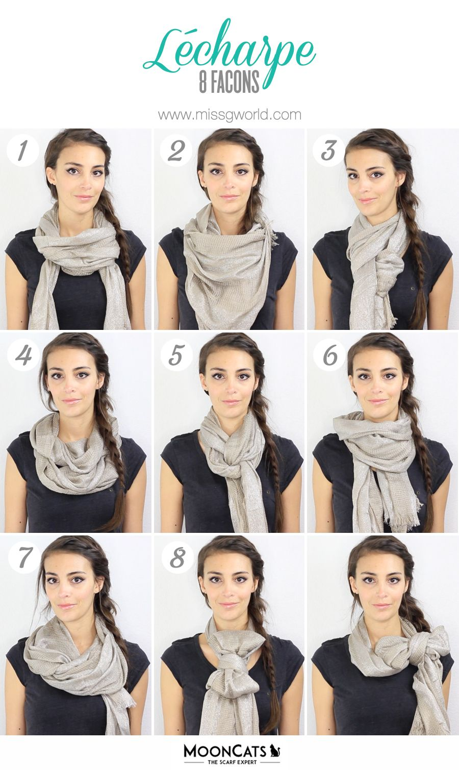 Wonderful Tuto-Comment-Porter-Echarpe-Foulard | MODE FEMME | Pinterest  IT12
