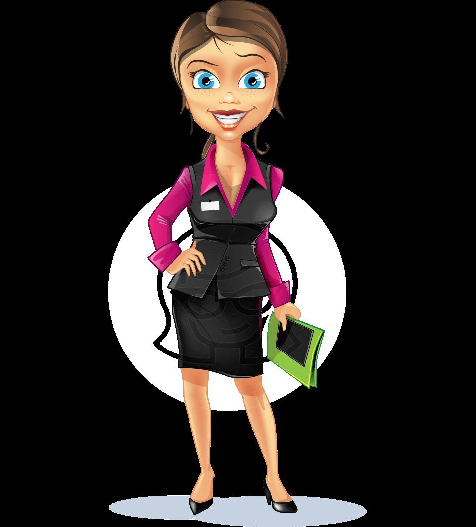 Free Business Woman Cartoon Vector Character 6 Free Illustrations Graphicmama Cartoons Vector Cartoon Characters Business Women