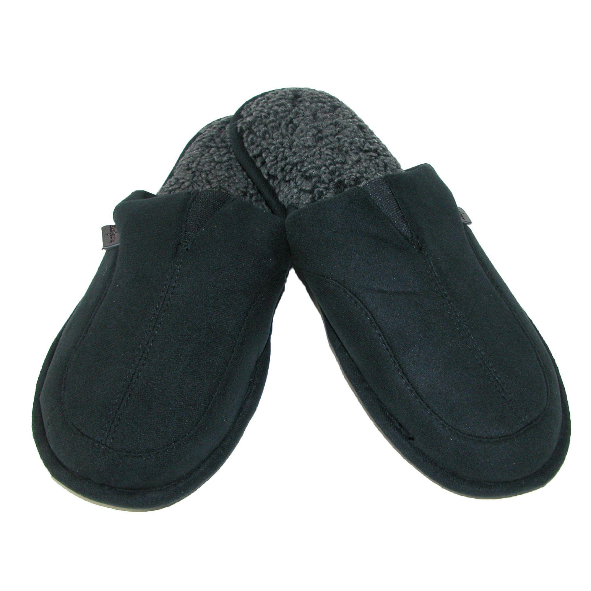 Dearfoams Men's Scuff Slippers with Memory Foam