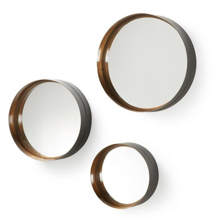 Set de 3 espejos Wilton | Marcos de metal, Espejos con marco y Espejo