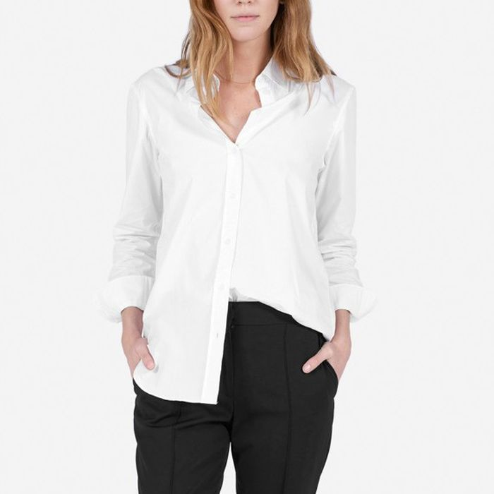 a3bc1ab8 10 Best White Button Down Shirts - #8 Everlane The Relaxed Cotton Shirt  #rankandstyle
