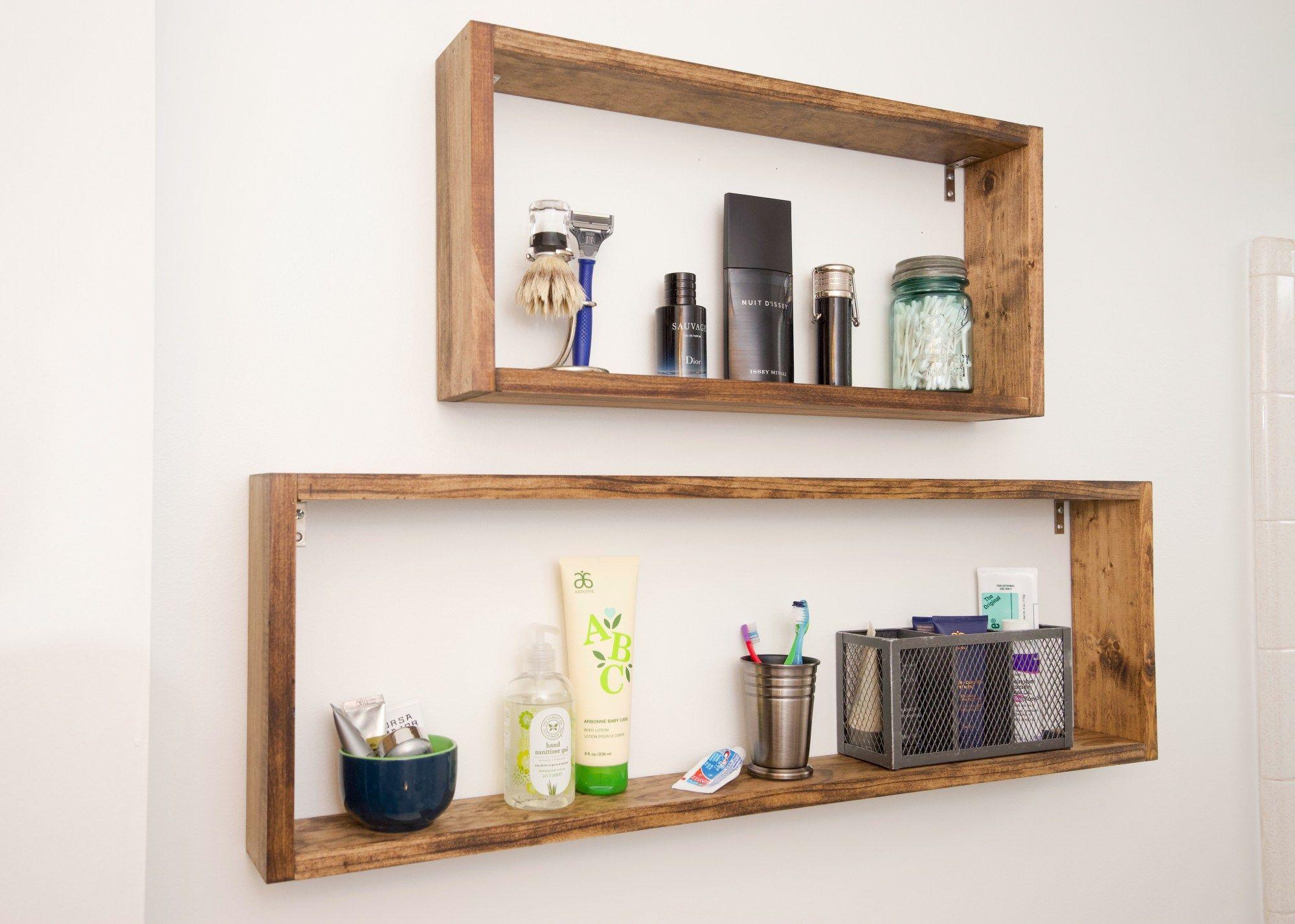 Super Simple DIY Box Shelves   Bathrooms   Box shelves