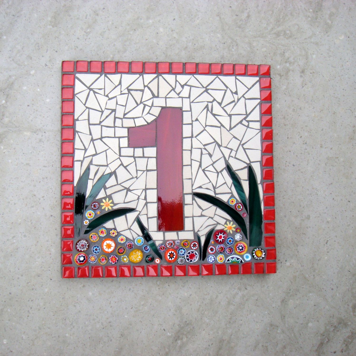 Custom mosaic house number sign plaque street address yard art custom mosaic house number street address sign plaque bespoke made to order by funkymosaicsuk on etsy dailygadgetfo Gallery